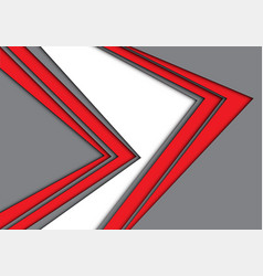 abstract double red arrow gray white modern vector image