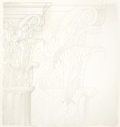 architectural backgroundcorinthian capital vector image
