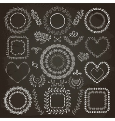 Hand-Drawn Floral Frames vector image