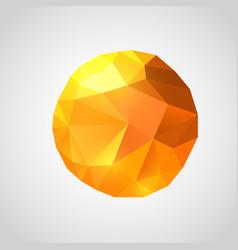 origami paper sun polygonal vector image vector image