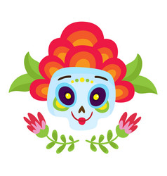 with colorful skulls for day vector image vector image