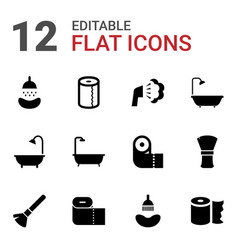 12 hygienic icons vector