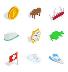 Absence icons set isometric style vector