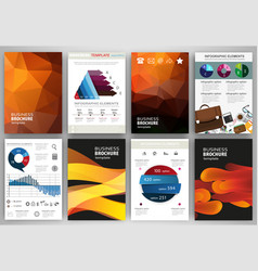 abstract orange backgrounds concept infographics vector image
