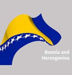 Background with bosnia and herzegovina flag vector