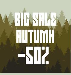 big autumn sales 50 percent discount vector image