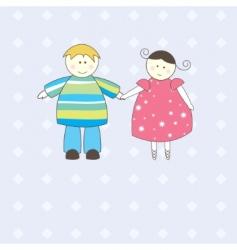 Boy and girl illustration vector