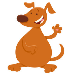 Brown dog or puppy cartoon character vector