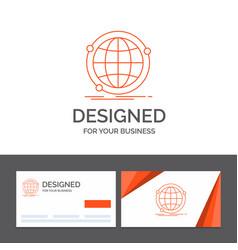 business logo template for data global internet vector image