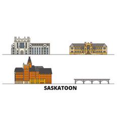 canada saskatoon flat landmarks vector image