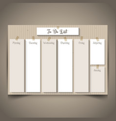 cardboard style to do list 2803 vector image