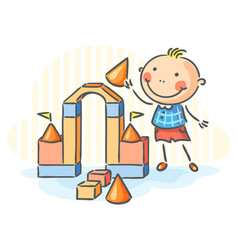 child playing vector image