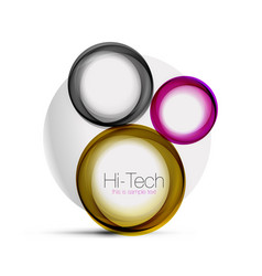 circle web layout - digital techno spheres - web vector image