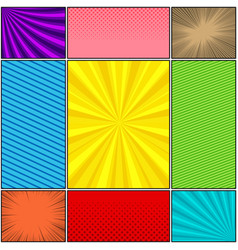 comic book colorful backgrounds set vector image