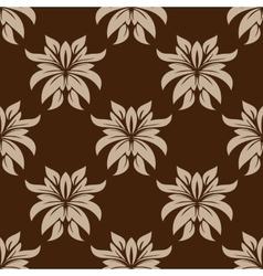 Dainty brown floral seamless pattern vector