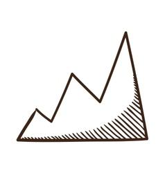 Diagram chart symbol vector image