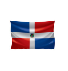 dominicana flag on a white vector image