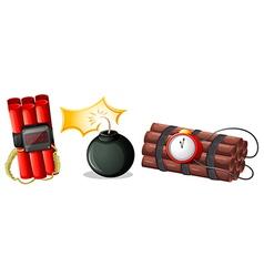 Explosive bombs vector image