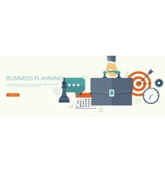 Flat business background Portfolio Time vector image