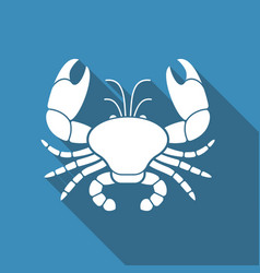 Flat icon of a crab vector