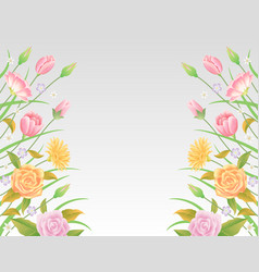 floral background and template decoration vector image