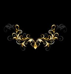 floral gold frame vector image