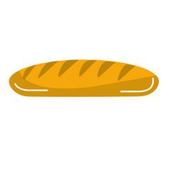 Fresh bread food with organic wheat vector