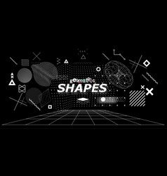 Futuristic abstract shapes set vector