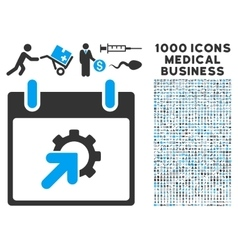 Gear Integration Calendar Day Icon With 1000 vector image