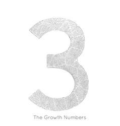 generative branch growth number 3 lichen vector image