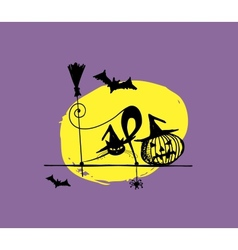 Halloween night for your design vector image