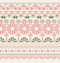 Hand drawn oriental pattern art background vector