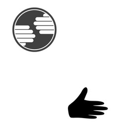 Hands circle flat icon symbol vector