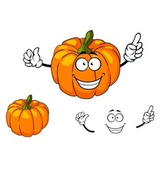 Happy colorful orange cartoon pumpkin vector