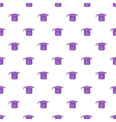 Hat student pattern cartoon style vector image