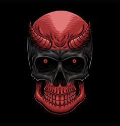 head demon skull vector image