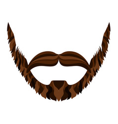 Hipster beard icon vector