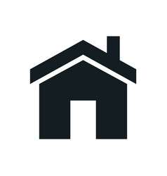 home icons set homepage - website or real estate vector image