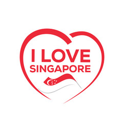 i love singapore vector image