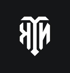 Kn logo monogram design template vector