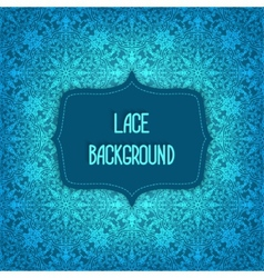 Lace blue background vector