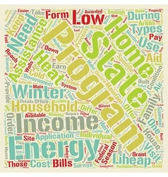 Low income home energy assistance text background vector