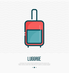Luggage thin line icon vector