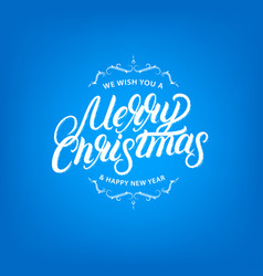 merry christmas elegant hand lettering design vector image