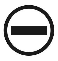 no entry sign line icon vector image