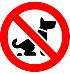 No fouling dog forbidden sign vector