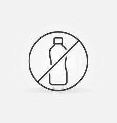 not allowed plastic bottle thin line vector image