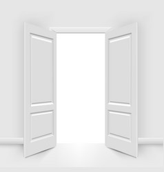 opened doors vector image