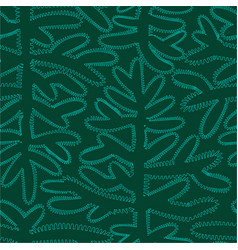 orgahic seamless pattern with contour branch of vector image
