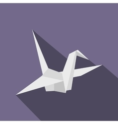 Paper Dove icon flat style vector image